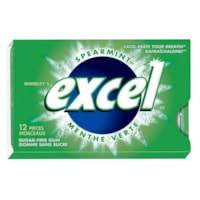 Wrigley's Excel Sugar-Free Spearmint Chewing Gum, 12 Pieces/PK, 12/BX