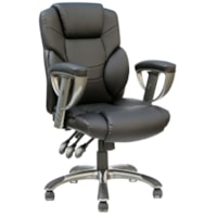 TygerClaw Executive Office Chair, High-Back, Black, Bonded Leather