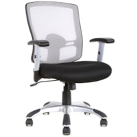TygerClaw Office Chair, Mid-Back, White, Mesh