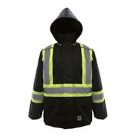 Manteau de pluie de sécurité noir 150D Open Road, TTG