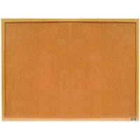 Quartet Standard Cork Bulletin Board, Varnished Oak Frame, 36