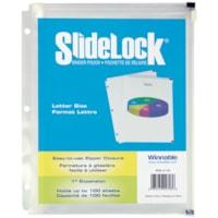 Pochette pour reliure SlideLock Winnable, transparent, format lettre
