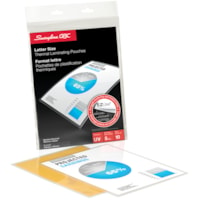 Swingline GBC Clear EZUse LongLife Letter-Size Speed Thermal Laminating Pouches, 5 mil, Box of 10