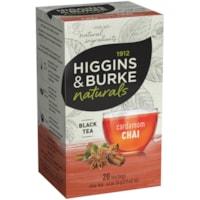 Higgins & Burke Naturals Cardamom Chai Black Tea, 20/Bx