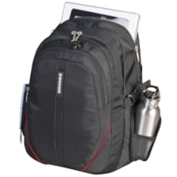SwissGear Padded Laptop Backpack, Black, Fits Laptops up to 15.6