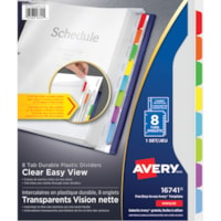 Intercalaires transparents en plastique durable Vision nette Avery