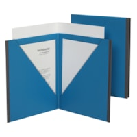 Pendaflex 3-Pocket Premium Poly Folder, Blue/Grey, Letter Size