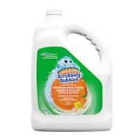 Chasseur de saleté de salles de bain Scrubbing Bubbles, bouteille de recharge, parfum d'agrumes, 3,78 l