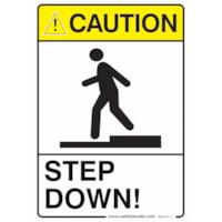 STEP DOWN CAUTION 7X10