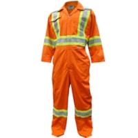 Viking CSA Approved High-Visibility Orange Medium  Coveralls