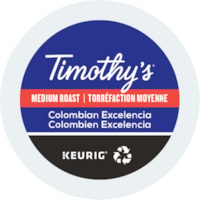 Timothy's® Single-Serve Coffee K-Cup Pods, Colombian Excelencia, Box of 24
