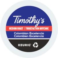 Dosettes K-Cup de café Timothy's, Colombien Excelencia, boîte de 24