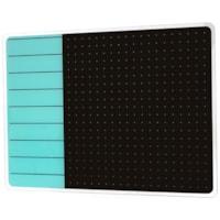 Tableau magnétique effaçable à sec en verre Glacier Viztex, planificateur et notes, sarcelle et noir, 17 po x 23 po