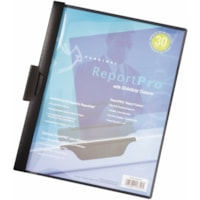 Cardinal ReportPro Report Cover with SlideGrip Closure, Black, Letter Size