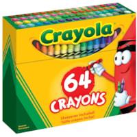 Crayons de cire Crayola, couleurs variées, emb. de 64