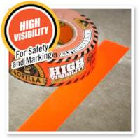Gorilla High Visibility Duct Tape, Blaze Orange, 48 mm x 22.8 m