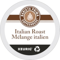 Barista Prima Coffeehouse Single-Serve Coffee K-Cup Pods, Dark Italian Roast, 24/BX