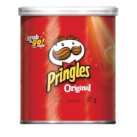 Pringles Grab & Go Stack Potato Chips, Original Flavour, 37 g, Carton of 12