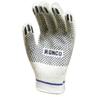 Ronco String Knit Gloves with PVC Dots, Medium