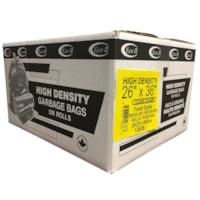 Sacs à ordures transparents de densité régulière 26 po x 36 po Eco II Manufacturing Inc.