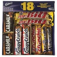 Tablettes de chocolat Cadbury variées, format ordinaire, emb. de 18 - résidents de l'Ontario et du Québec seulement