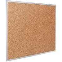 Quartet Standard Cork Bulletin Board, Aluminum Frame, 48