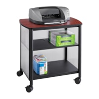 Safco Impromptu Machine Stand, Black with Cherry Top