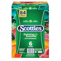 Scotties 2-Ply EnviroCare Facial Tissue, White, 140 Sheets/BX, 6/PK