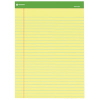 Grand & Toy Recycled Ruled Writing Pads, Canary Yellow, 8 1/2