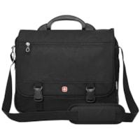 SwissGear Expandable Laptop Briefcase, Black, Fits Laptops up to 15
