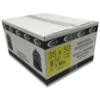 Sacs à ordures industriels Eco II, transparent, 3 mils, 35 po x 50 po, caisse de 50