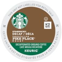 Dosettes K-Cup de café Starbucks, torréfaction Pike Place déca, boîte de 24