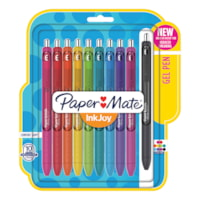 Paper Mate InkJoy Gel Retractable Pens, Assorted Colours, Medium 0.7 mm, 10/PK