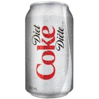 Coca-Cola Soft Drinks, Diet, 355 mL, 24/CT
