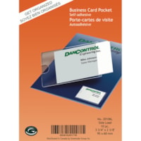 Greenside Self-Adhesive Business Card Pockets