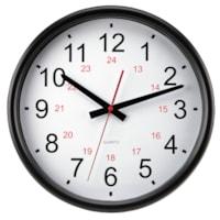 Horloge murale ronde 24 heures 14 po Timekeeper