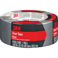 3M 1055 Basic Duct Tape, Silver, 48 mm x 50.2 m