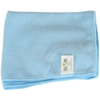 Globe Commercial Products Microfibre Cloths, Blue, 14