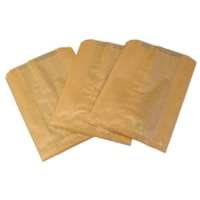 Hospeco Kraft Waxed Feminine Hygiene Disposal Bags with Gusset, Brown, 500/CT