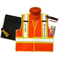 Safety Media Fire Warden Kit, L/XL