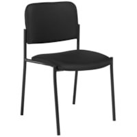 Offices To Go Minto Low-Back Armless Stacking Chair, Ebony Black Jenny Fabric Seat and Back