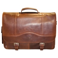 Mancini Leather Porthole Briefcase For 15.6'' Laptops/Tablets