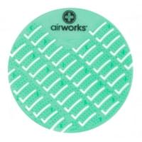 Tamis pour urinoir en CAV/E Airworks,, parfum de concombre et melon, boîte de 10