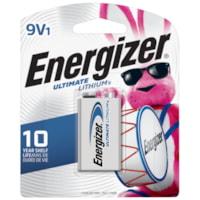 Energizer 9V Ultimate Lithium Batteries, 1/PK