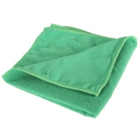 Globe Commercial Products Microfibre Cloths, Green, 16