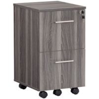 Safco Medina Series File/File Mobile Pedestal, Grey Steel, 15 1/2