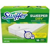 Swiffer Sweeper Dry Pad Refills, Unscented, 16/BX