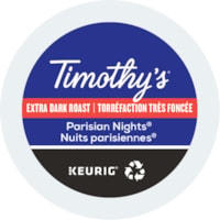 Timothy's® Single-Serve Coffee K-Cup Pods, Parisian Nights, Box of 24