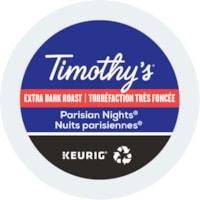 Timothy's Single-Serve Coffee K-Cup Pods, Parisian Nights, 24/BX