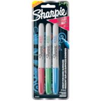 Sharpie Metallic Permanent Markers, Ruby/Emerald/Sapphire, Fine Tip, 3/PK